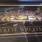 Hawkeye Wrestling Print signed by Gable and Brands
