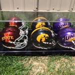 Mini Football Helmet Collection Autographed by Coaches
