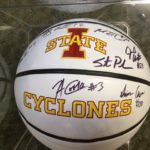 ISU mens bball Team 2015-2016 signed ball