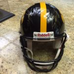 Jared DeVries and Casey Wiegmann Autographed Iowa helmet