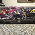 Uni ISU Iowa mini Helmets signed by Coaches